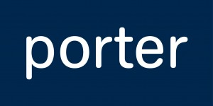 porter - 400x200 logo - white on blue