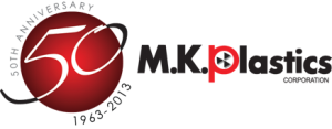 MK Plastics 50yr logo