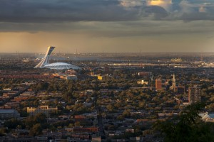 Olympic Stadium, viewed from the Mont-Royal, Montreal